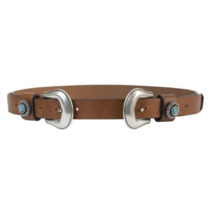 double buckle belt-tan